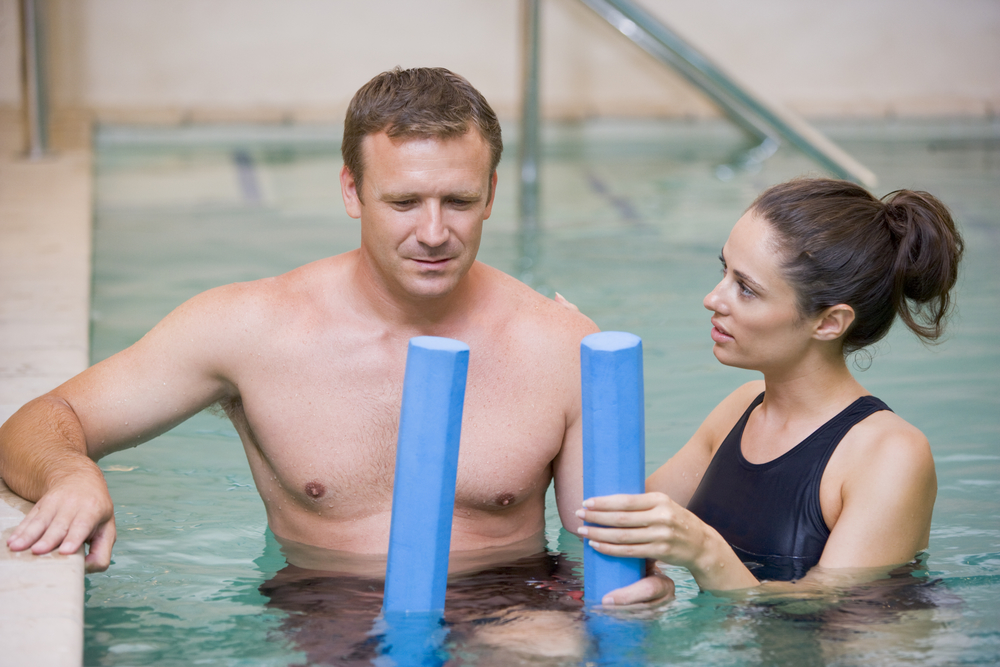 physical therapy in a pool
