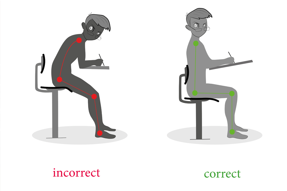 Correct Posture when working at a desk