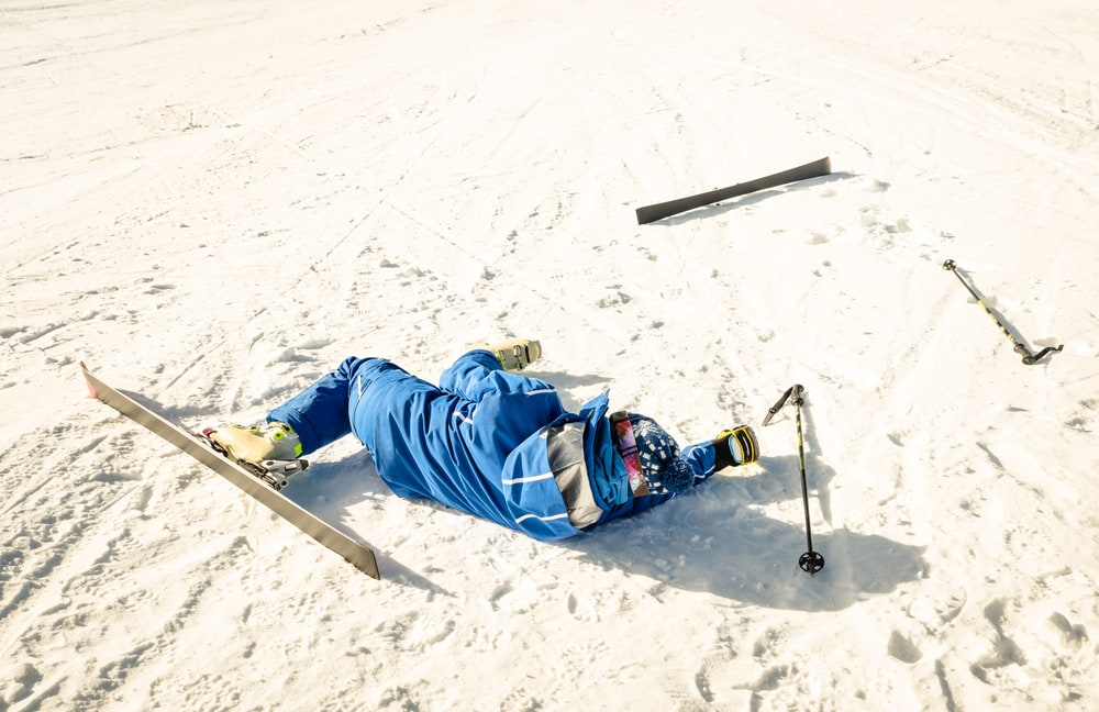 Skier on ground after accident